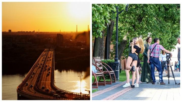 Медовые закаты, жара и красотки: лучшие снимки недели от нижегородских фотографов