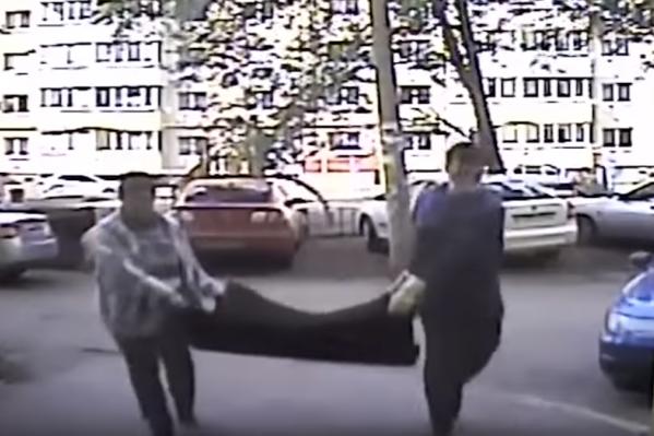 Происшествие попало в объектив камеры видеонаблюдения&nbsp;<br>