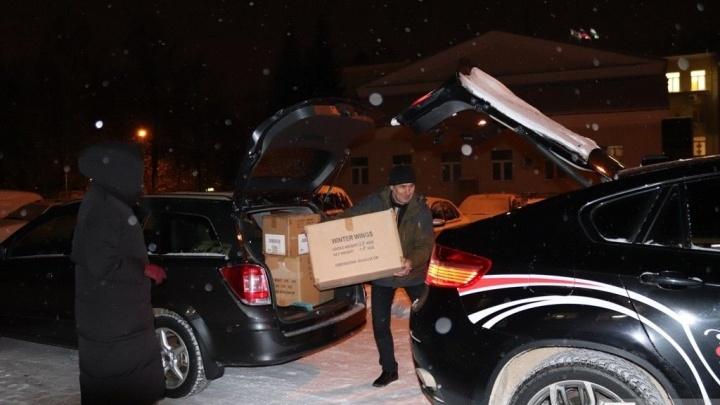 Уфимцы отправили подарки детям, пострадавшим при обрушении подъезда в Магнитогорске
