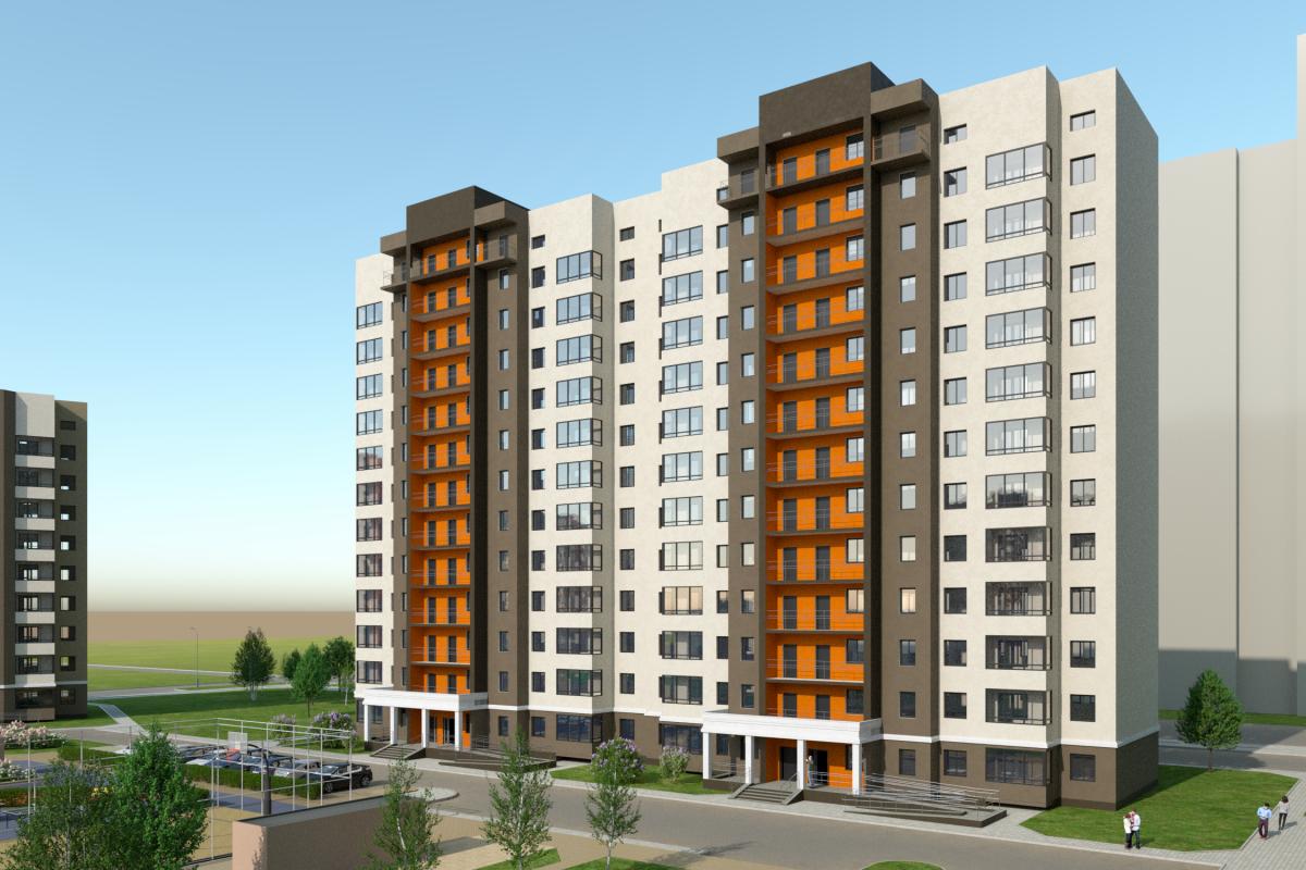 ЖК «На Тенистой» будет состоять из нескольких домов разной высотности, сейчас строится первый дом