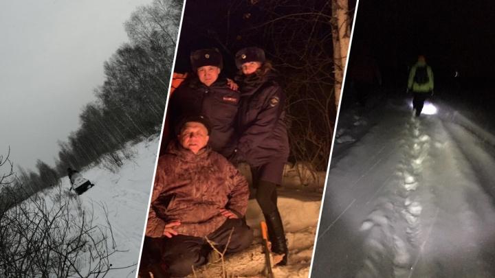 Спецслужбы и волонтеры провели ночь в лесу, разыскивая пропавших тюменских охотников