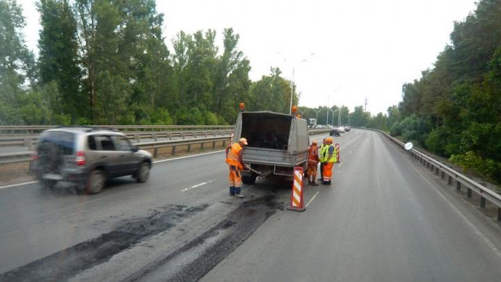 Дорожники по гарантии восстанавливают дорогу Уфа–Аэропорт