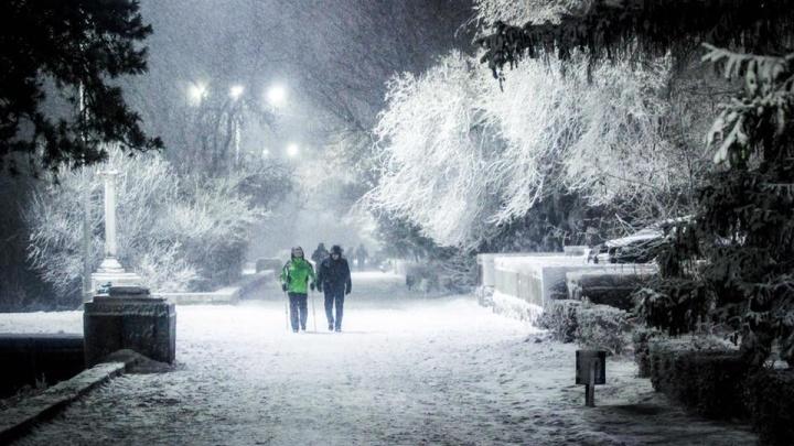 «Бьются машины и задерживаются авиарейсы»: на Волгоград обрушился снегопад