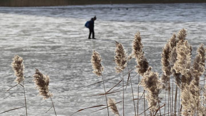 Решил прогуляться по замёрзшей Туре: тюменец провалился под лёд рядом с аквапарком
