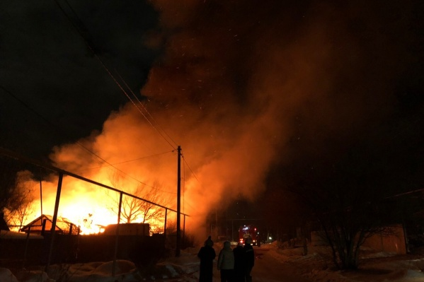 Пожар в доме в Полетаево произошёл в ночь на 10 января