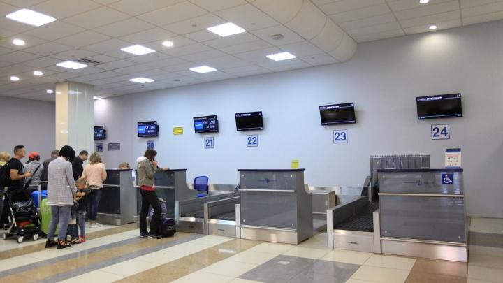 В аэропорту Толмачёво появилось шесть новых стоек регистрации