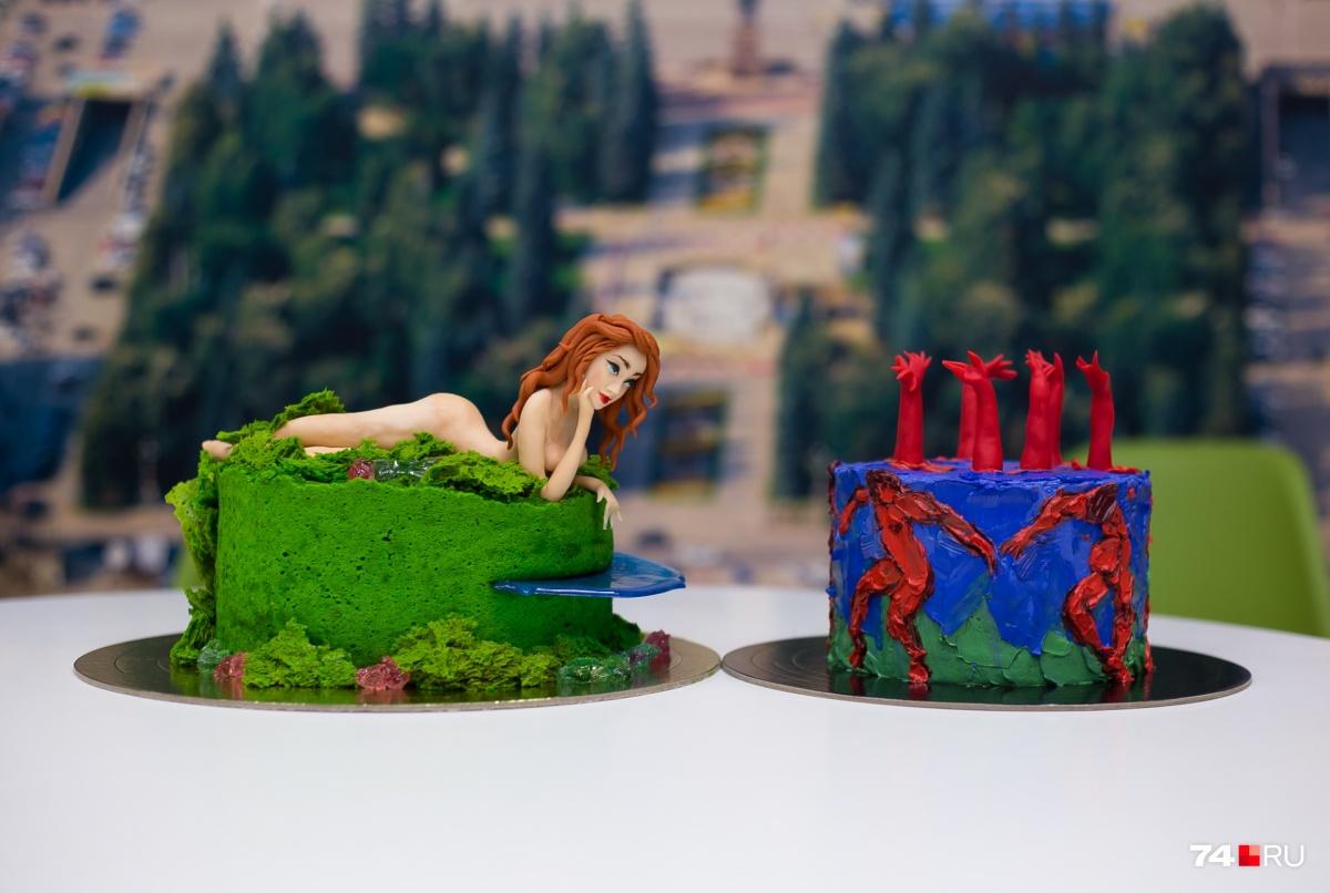 Темой для торта может стать любой персонаж и даже художественное полотно