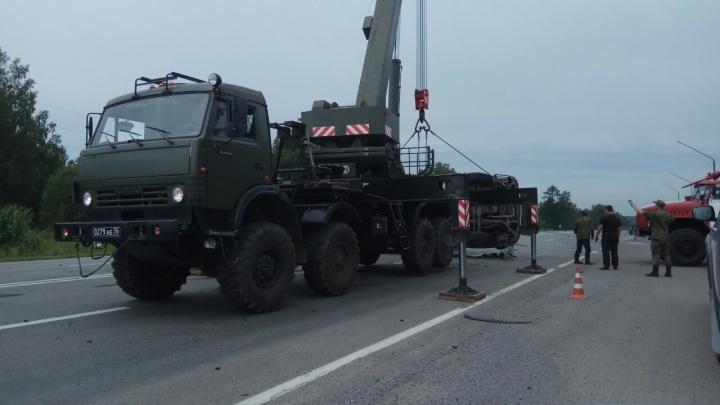 По дороге в Козульку опрокинулась фура с ребёнком-пассажиром