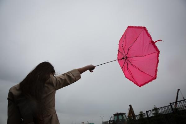 Сильный ветер будет дуть в городе три дня