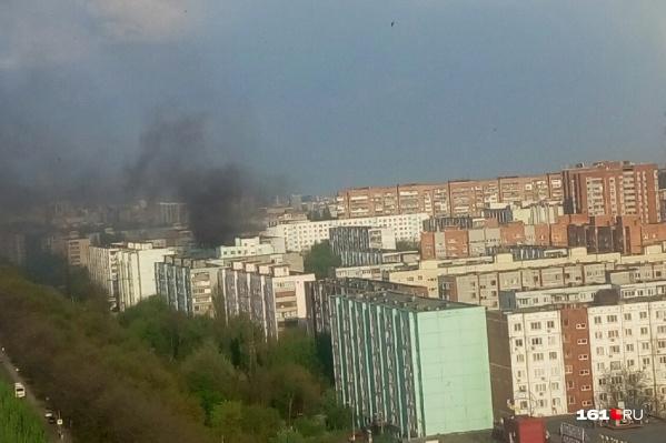 Пожар произошёл на 10-м этаже жилого дома
