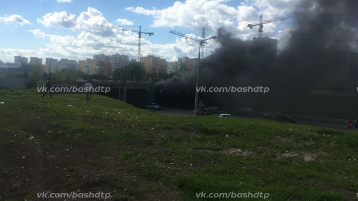 Уфимцев напугал черный дым в автомобильном тоннеле возле ТРЦ «Планета»