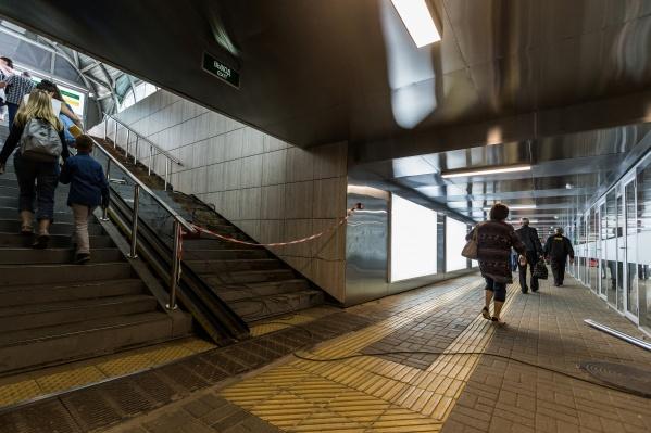 Подземный переход устанции метро «Речной вокзал» решили сдать в аренду