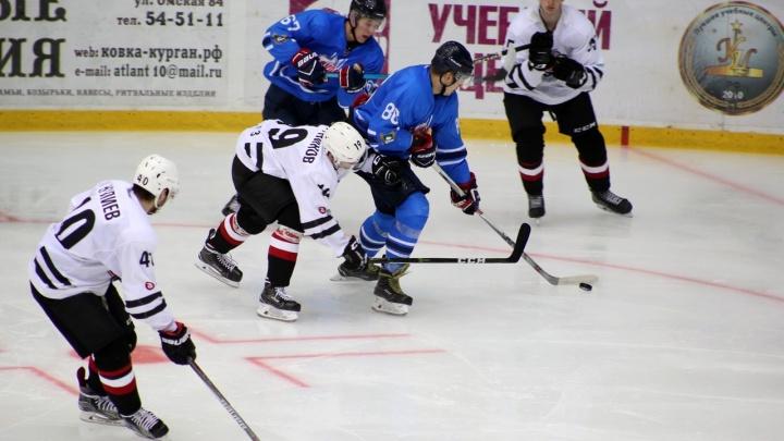Растаявший лед не помешал курганским хоккеистам одержать победу в домашнем матче