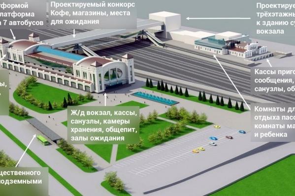 Вот так будет выглядеть новый вокзал Перми II
