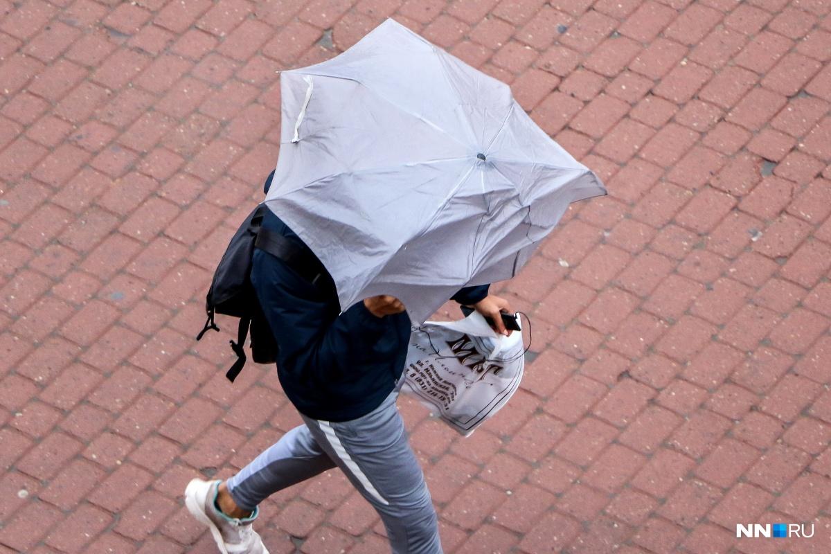 Во время грозы порывы ветра будут достигать15 м/с