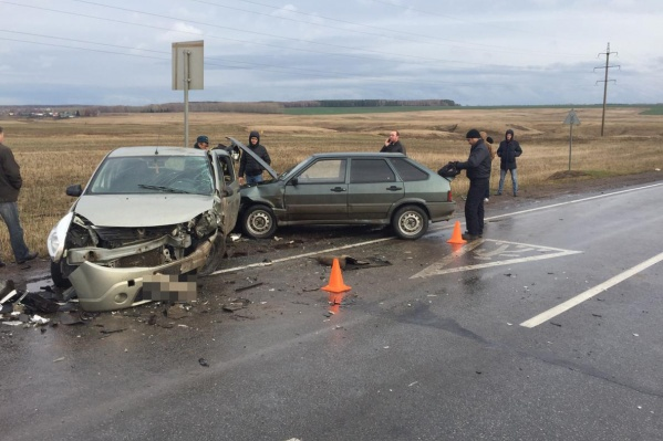 Из-за аварии на трассе была перекрыта одна из полос движения