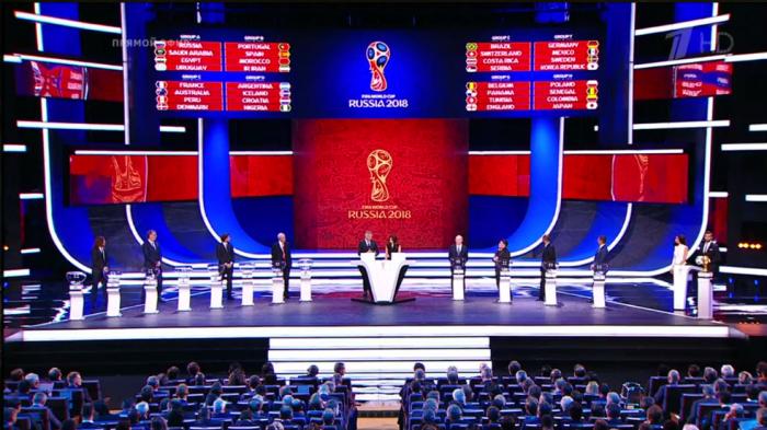 Россия на чемпионате мира по футболу сыграет с Египтом, Саудовской Аравией и Уругваем
