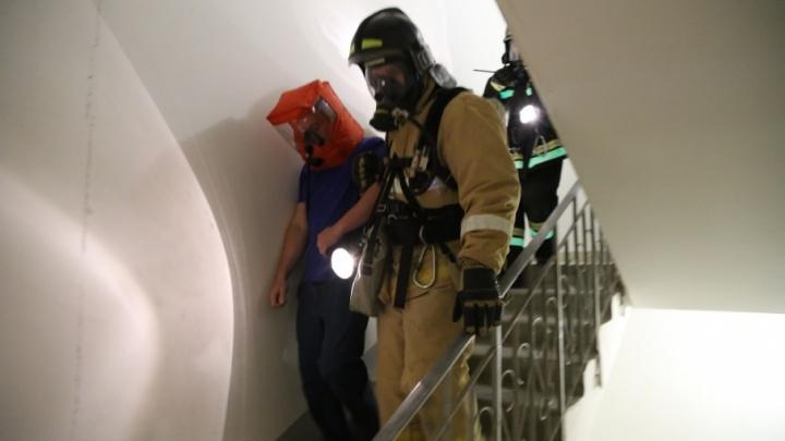 В Заозерном пожарные «потушили» высотку