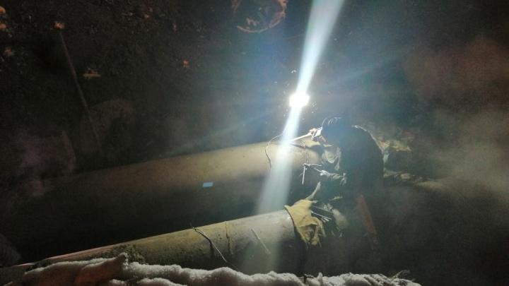 Коммунальщики закончили ремонт теплотрассы на Котовского