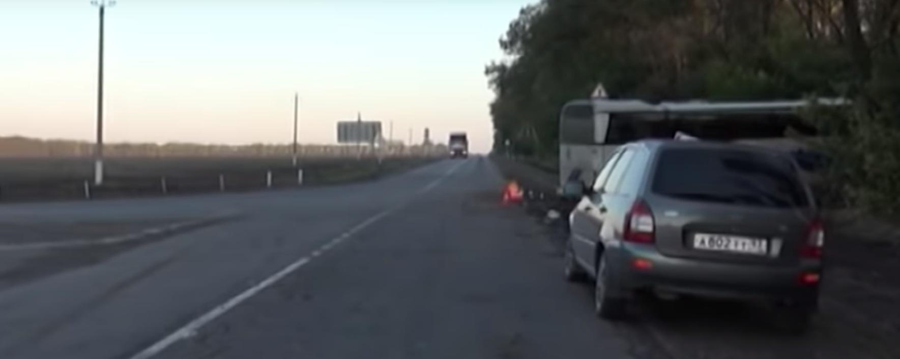 Водитель не вписался в поворот