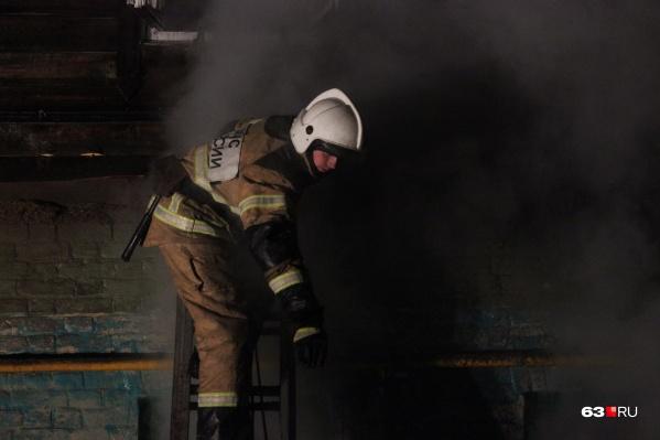 Пожарные около получаса работали на месте ЧП