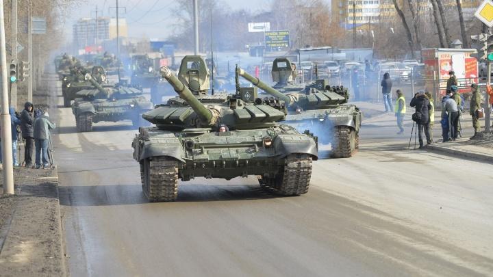 В среду на Вторчермете вновь закроют улицы для тренировки военных ко Дню Победы