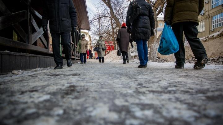На борьбу с гололедом в Новосибирске потратят 110 миллионов рублей