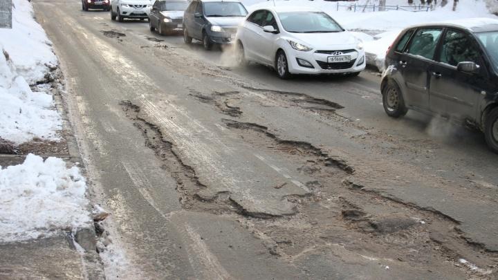 Дорогу на месте прорыва теплотрассы в Самаре восстановят только в мае