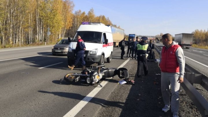 Мотоциклиста лишили прав за пьяную езду: подробности ДТП с байкером на Пермском тракте