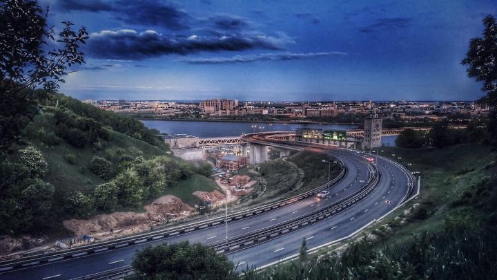 Фото дня. Необычный взгляд на нижегородский метромост