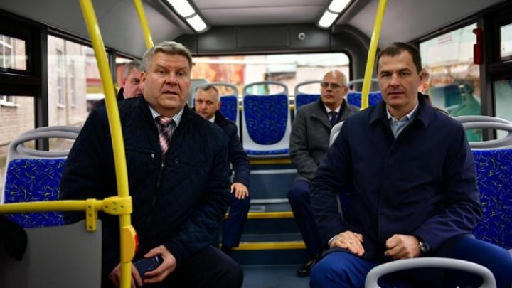 В Ярославле мэр посидел в новом автобусе