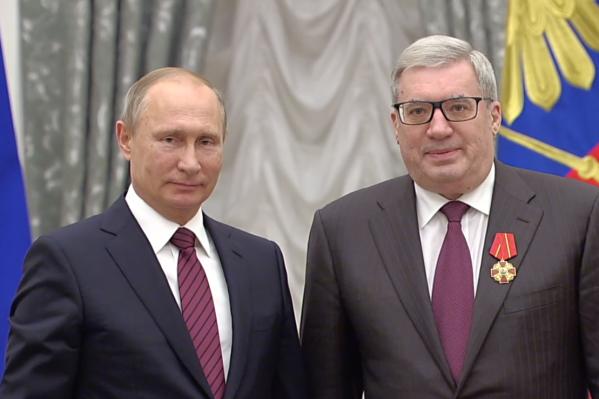 Награждение проходило в Екатерининском зале московского Кремля
