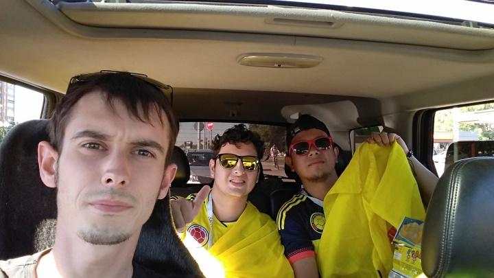 Житель Самары вывез с Безымянки заблудившихся болельщиков сборной Колумбии