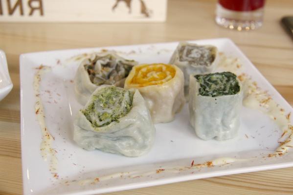 Ассорти ханумов (блюдо узбекской кухни) за 290 рублей