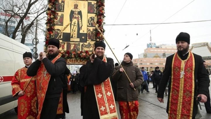 В четверг для крестного хода перекроют центральные улицы Екатеринбурга