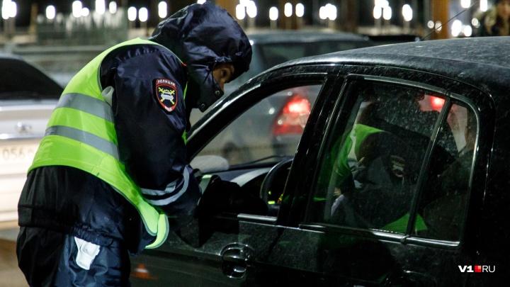 В центре Волгограда полиция устроила облаву на пьяных водителей
