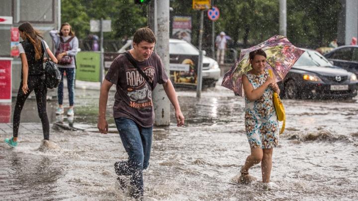 Лето уходит: северный циклон несёт в Новосибирск новые дожди