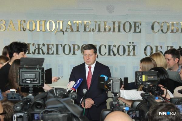 Олег Сорокин в Законодательном собрании