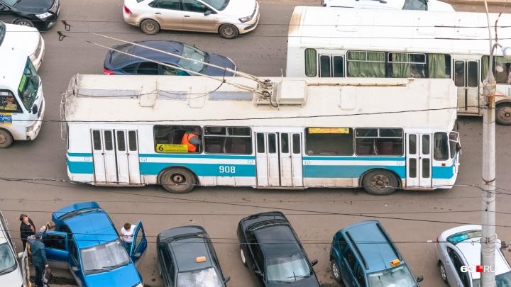 В Самаре отменят троллейбус №6 из-за строительства Фрунзенского моста