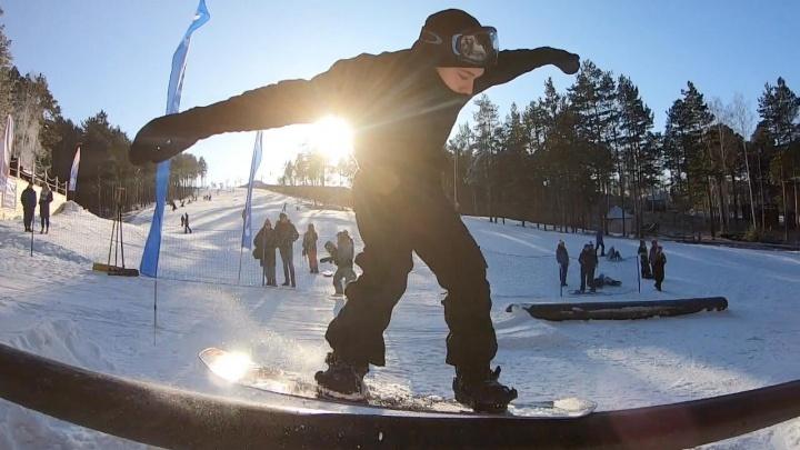 Покатили! Полторы тысячи сноубордистов и горнолыжников открыли сезон на Уктусе