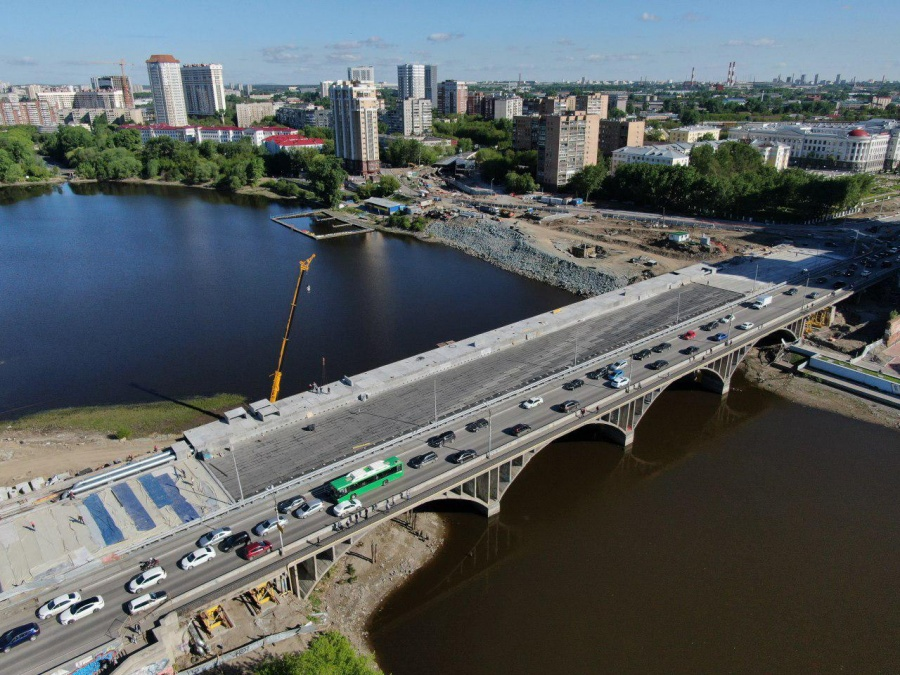 Макаровский мост с высоты