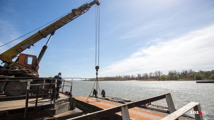 Понтонный мост на Зелёный остров в Ростове откроют к майским праздникам