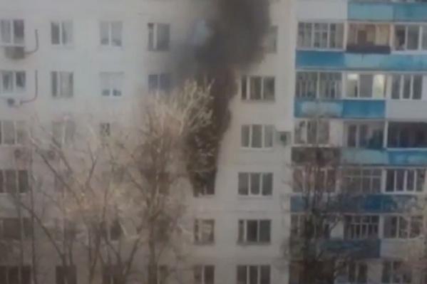 В результате пожара пострадали люди