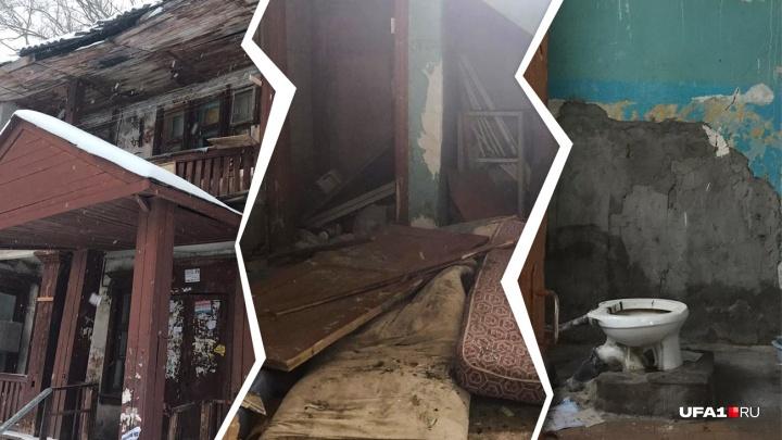 Уфимка «застряла» в аварийном доме без жилья и компенсации. Она считает, что виноват застройщик