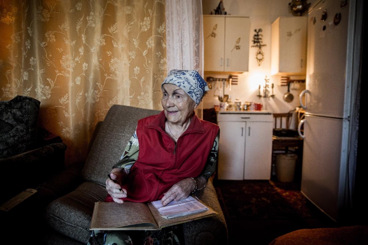 Галина Терентьевна у себя дома