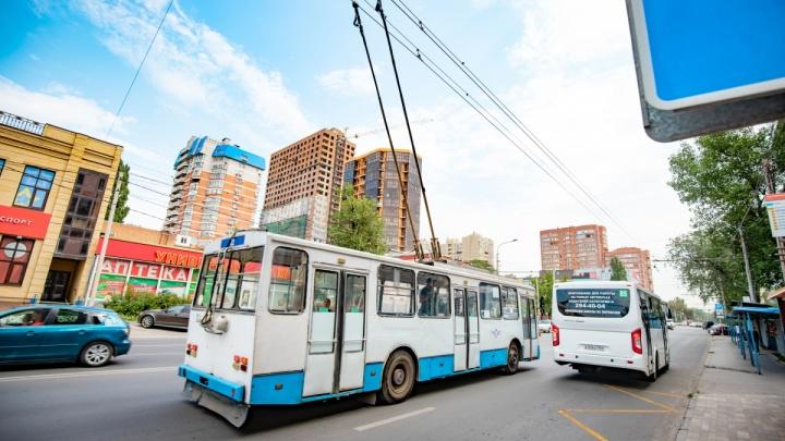 Троллейбусы по Большой Садовой пустят 17 сентября