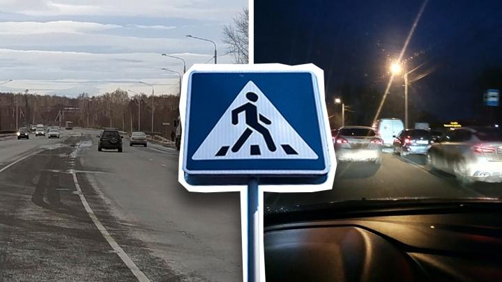 Жителям челябинского посёлка после публикации 74.RU сделали пешеходный переход и остановку