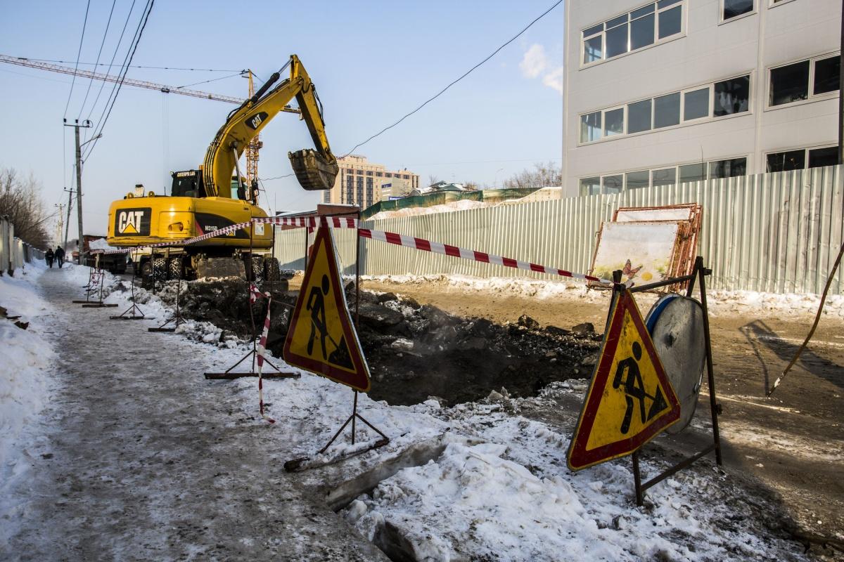 Замена магистральных теплосетей требует более масштабных разрытий, предупредили в СГК