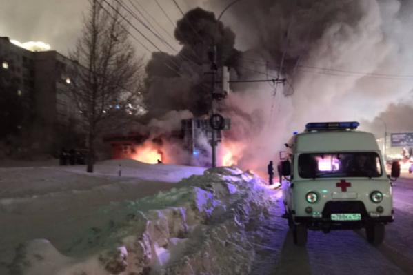 В результате пожара пострадавших нет