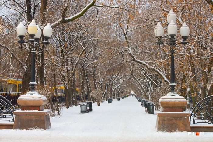 Снега в Екатеринбурге по-прежнему мало, и сильных изменений не ожидается